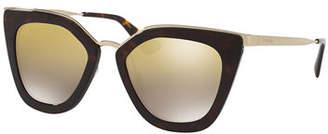 Prada Mirrored Square Cat-Eye Sunglasses $355 thestylecure.com
