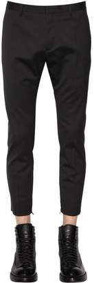 DSQUARED2 15.5cm Stretch Wool Pants W/ Zip Hem