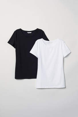 H&M 2-pack Jersey Tops - Black
