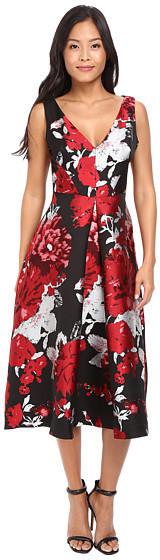Eva FrancoEva Franco - Devora Dress In Crimson Bloom
