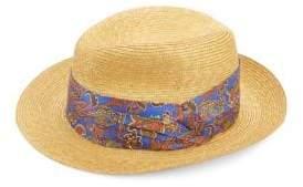 Etro Paisley-Print Straw Hat