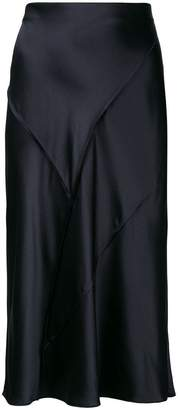 Vince Raw Edge Silk Skirt