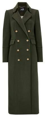 Wallis Khaki Long Military Coat