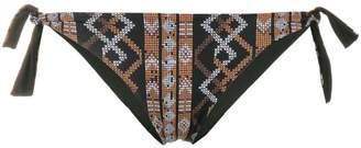 Fisico ethnic print bikini bottom