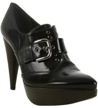 Stuart Weitzman black polished calf 'Mega' booties
