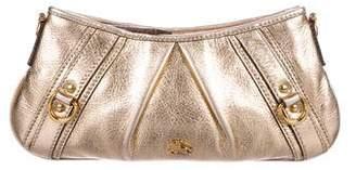 Burberry Metallic Leather Wristlet