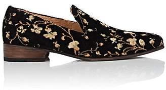 Esquivel Women's Liz Floral Brocade Loafers - Black