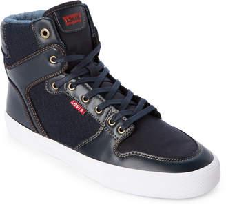 Levi's Navy Maxwell Denim High-Top Sneakers