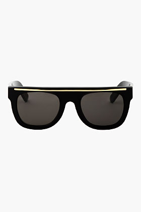 Super Black & Gold Flat Top Ciccio Sunglases