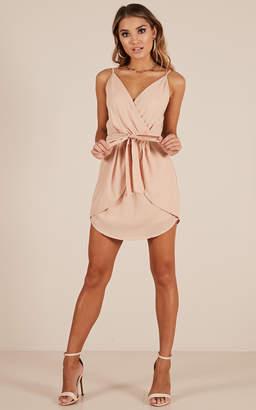 Showpo Dancing Dream Dress in beige - 12 (L) Party Dresses