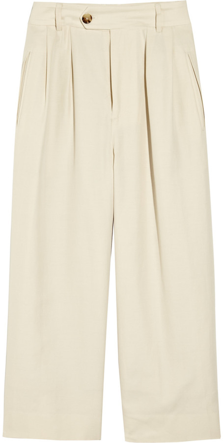 Marc by Marc Jacobs Ursula cropped cotton and silk-blend pants