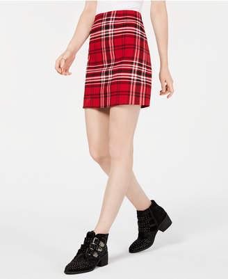 Tinseltown T.d.c. Topson Plaid Mini Skirt