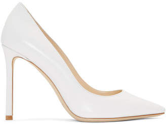 Jimmy Choo White Leather Romy 100 Heels