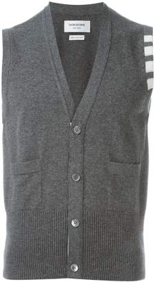 Thom Browne sleeveless buttoned cardigan