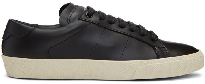 Saint Laurent Black Court Classic SL-06 Sneakers