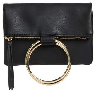 Chelsea28 Skyler Faux Leather Foldover Clutch