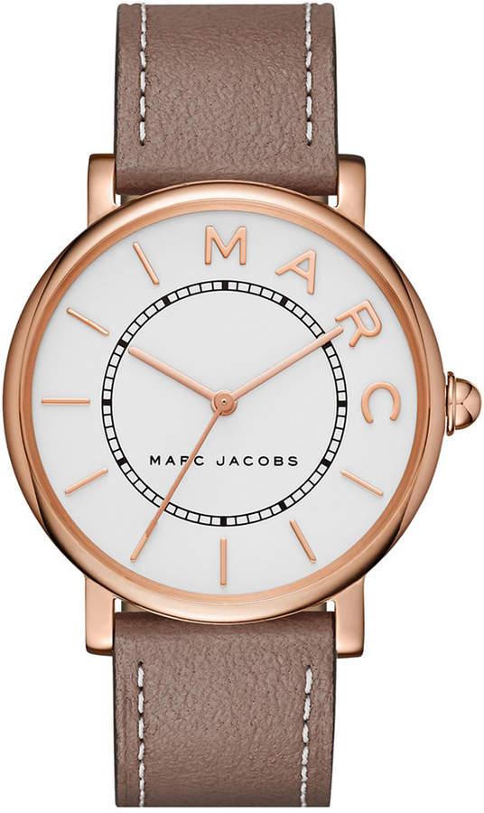 Marc Jacobs Marc Jacobs Women's Roxy Cement Leather Strap Watch 36mm MJ1533