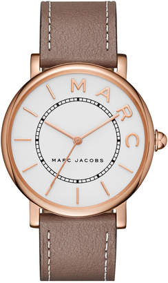 Marc Jacobs Women Roxy Cement Leather Strap Watch 36mm