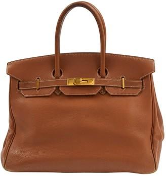 Hermes Birkin 35 Camel Leather Handbags