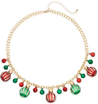 Christmas Bead & Bell Necklace