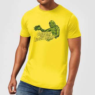 Universal Monsters Creature From The Black Lagoon Retro Crest Men's T-Shirt