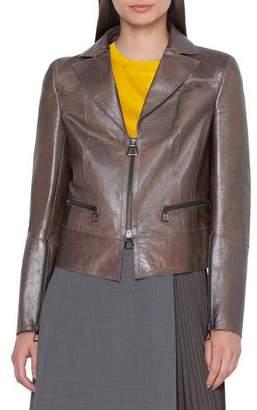 Akris Al Shiny Leather Jacket