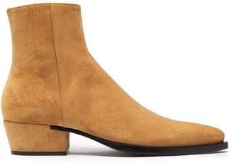 Givenchy Dallas Pointed Toe Suede Boots - Mens - Tan