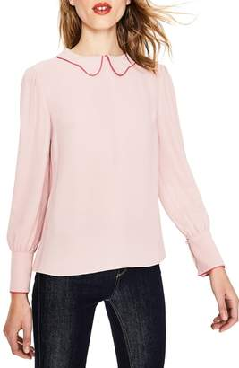 Boden Maggie Piped Collar Blouse