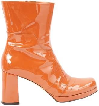 Amélie Pichard Camel Patent leather Boots