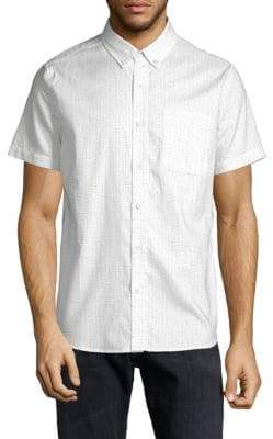 AG Jeans Dotted Cotton Button-Down Shirt