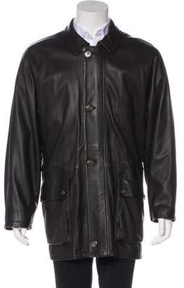 Loro Piana Leather Cashmere-Lined Coat