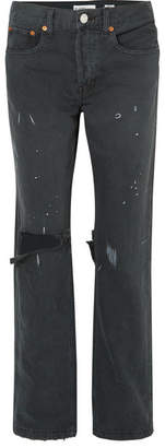 RE/DONE Grunge Distressed Jeans - Black