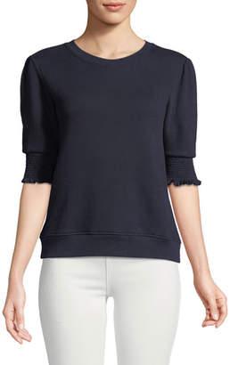 Joie Maita Short-Sleeve Cotton Top