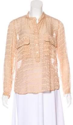 Stella McCartney Woven Button-Up Top