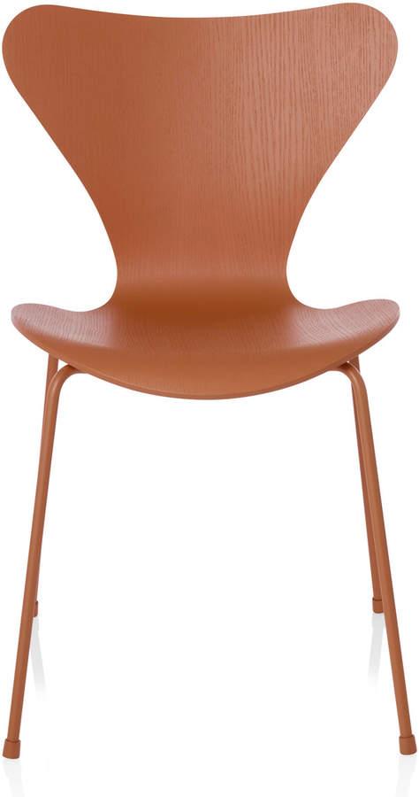 Fritz Hansen - Serie 7 Stuhl, Monochrom Esche Chevalier Orange gefärbt, 46.5 cm