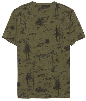 Banana Republic Soft Wash Forest Print T-Shirt