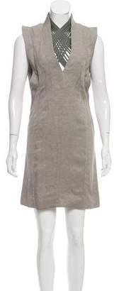 Todd Lynn Basketweave Sheath Dress