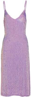 retrofete Denisa Sequin Slip Dress