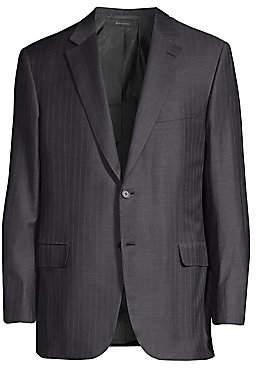 Brioni Men's Stripe Single-Breasted Virgin Wool Jacket