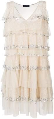 Twin-Set layered shift dress