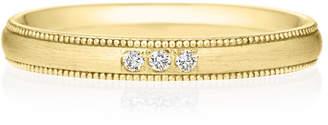 Brilliance+ (ブリリアンス+) - K18YG オーバル ダイヤモンド 3ps プチエタニティ リング ミルグレイン ヘアーライン 2.5mm