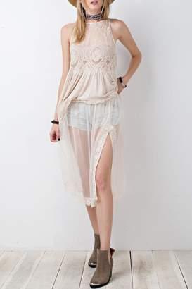 Easel Blush Net Skirt