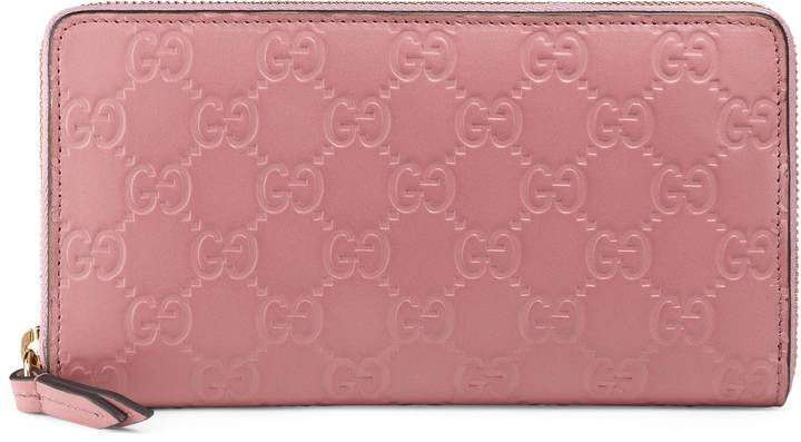 Gucci Gucci Signature zip around wallet