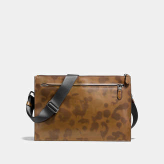 Coach Manhattan Convertible Slim Messenger With Wild Beast Print