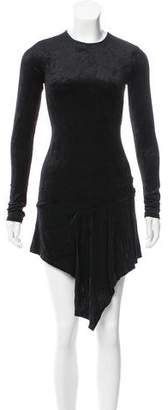 Kimberly Ovitz Long Sleeve Velvet Dress