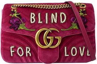 Gucci Marmont Pink Velvet Handbag