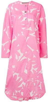 Marni floral print shirt dress
