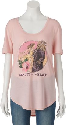 Disney's Beauty and the Beast Juniors' High-Low Graphic Tee $24 thestylecure.com