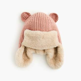 J.Crew Girls' knit fur-lined hat with ears