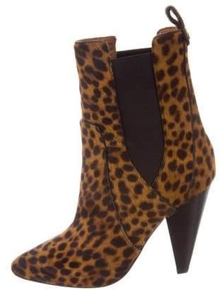 Veronica Beard Landon Animal Print Ankle Boots w/ Tags